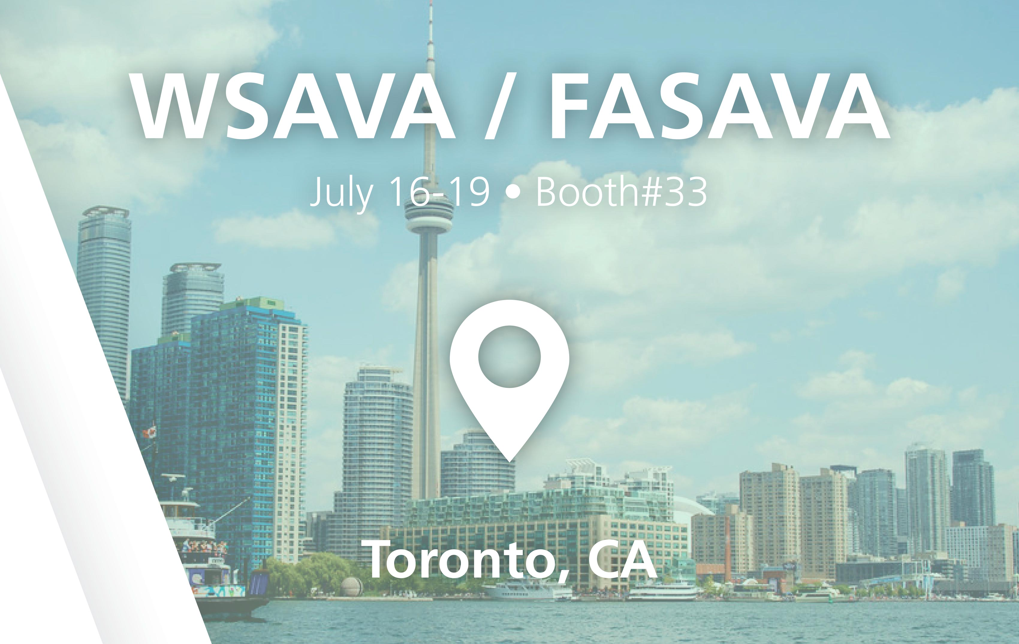 WSAVA / FASAVA - Booth#33 - July 16-19